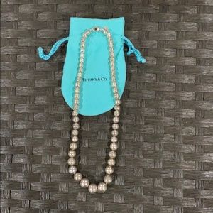 Tiffany & Co silver beaded necklace